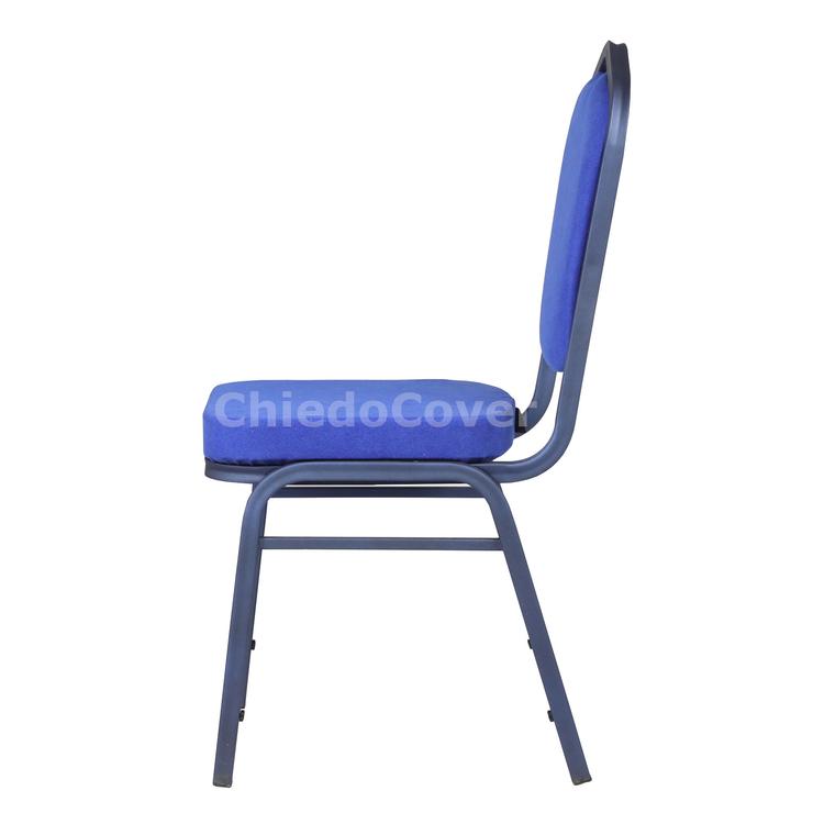Стул Хит 25мм, синий, голубой вельвет, ппу наполнитель