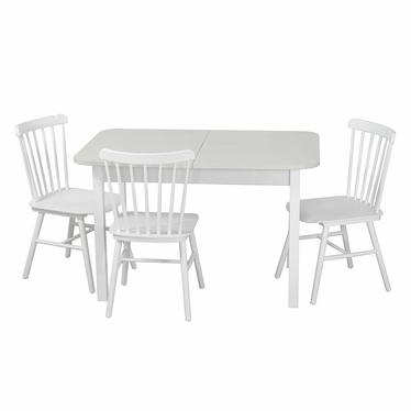 Столовая группа, стол Бостон, стулья Такер, белые