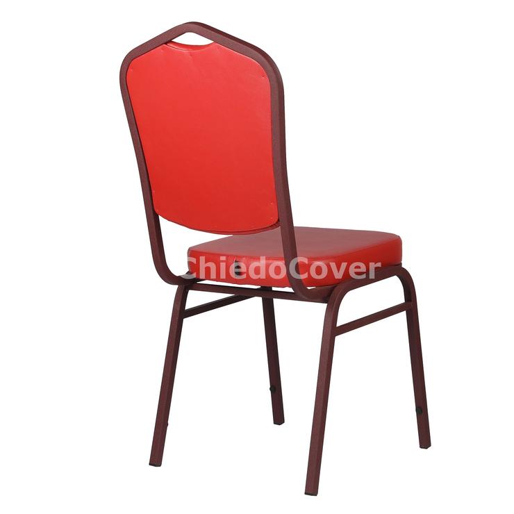 Стул Хит 20мм, бордо, красный кожзам